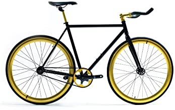State Bicycle Co Fixed Gear Fixie Single Speed Bike, Midas, 62cm