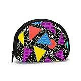Monederos retro vintage triangulares bolsas para el bolso de los hombres práctico bolso portavelas, mini monederos de cambio portátil para mujeres y niñas 11.7 x 9.5 cm