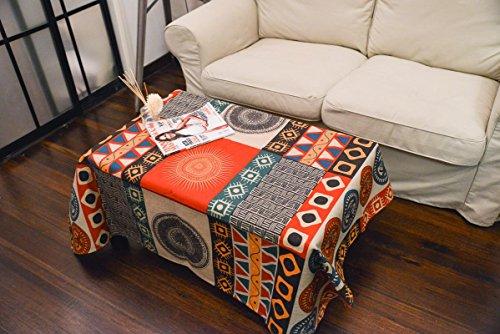 Retro rural sol totem creativa mesa de centro del paño grueso mantel manteles de lino sala de estar , sun totem , 85*85
