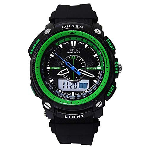 Reloj de Pulsera Sport, Digital Impermeable LED Cronometro con Alarma/Cuenta Regresiva/Cronómetro / 12/24H para Hombre Reloj análogo Multifuncional de Digitaces