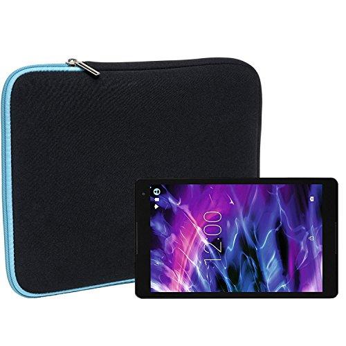 Slabo Tablet Tasche Schutzhülle für Medion Lifetab P10505 / P10506 Hülle Etui Hülle Phablet aus Neopren – TÜRKIS/SCHWARZ