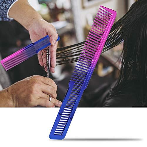 Uxsiya Cepillo de Pelo Cepillo de Pelo de plástico para Belleza para Uso de Peluquero para Uso en salón para Cabello Soomth(Haircut Comb)