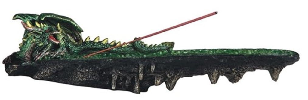 傑作かなりボス虹色LSMグリーン色ドラゴンResting香炉、10?