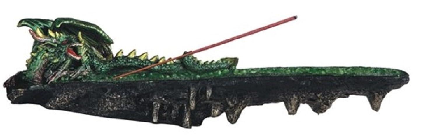 緑セクタメタン虹色LSMグリーン色ドラゴンResting香炉、10?
