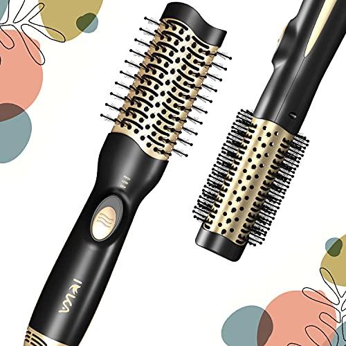 Hair Dryer Brush, IEKA Hot Air Brush Hair Dryer Styler & Volumizer 3 in 1 Brush Blow Dryer Styler for Straightening, Curling, Salon Negative Ion Ceramic Blow Dryer Brush