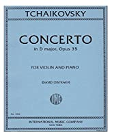 チャイコフスキー: バイオリン協奏曲 ニ長調 Op.35/オイストラフ編/インターナショナル・ミュージック社/ピアノ伴奏付ソロ楽譜