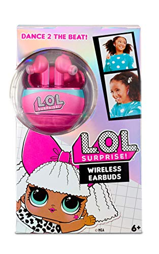 L.O.L. Surprise! 571803E7C LOL Surprise In-Ohr-Kopfhörer ohne Kabel für Kinder mit 3D-Stereoklang und integriertem Mikrofon [Exklusiv bei Amazon]