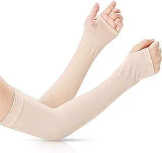 Niome Sunscreen Arm Sleeves Ice Silk Thin Anti-UV Thumb Holes Design