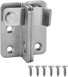 JQK Flip Latch, (Extra Thick 3mm) Stainless Steel Heavy Duty Gate Latcher Door Latch with Safety Packlock Hole, Brushed Finish, DL150-BN