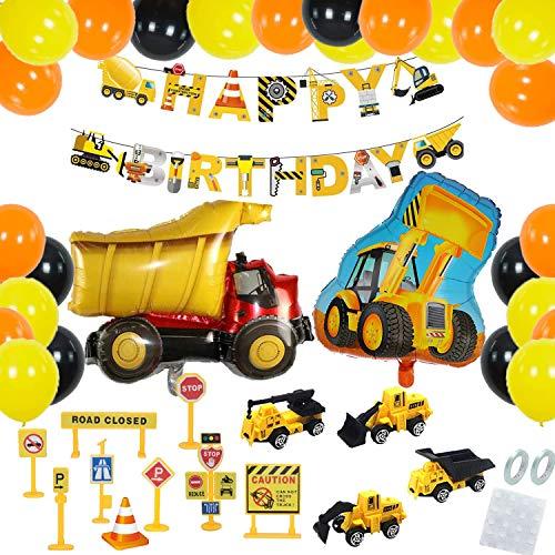 Baustelle Kindergeburtstag Party Dekoration,Bagger Luftballons,Baustelle Truck Bagger Luftballons,Hook Bagger Kindergeburtstag Deko,Bagger Happy Birthday,BAU Party Dekoration