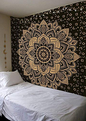 Decorations for Christmas Black and Gold Bohemian Wall Hanging