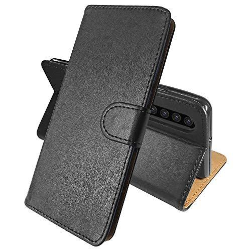 SDTEK hoes voor Huawei P30 (zwart) tas leer flip case portefeuille book etui beschermhoes telefoonhoes