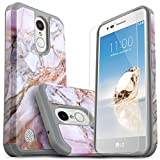 LG K30 Phone Cases, LG Xpression Plus, LG Premier Pro LTE, LG Phoenix Plus, LG Harmony 2, With [Premium Screen Protector Included] Starshop Dual Layers Drop Protection Phone Cover-Marble Pattern