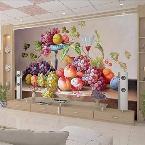 Gepersonaliseerd behang 3D fotobehang stilleven olieverfschilderij woonkamer decoratie schilderij tv achtergrond muurschildering 400 x 280 cm.