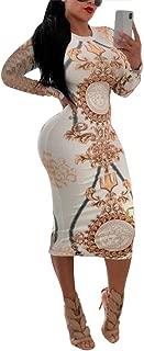 Bodycon Dresses for Women - Unique Patterns Pencil Midi Dresses