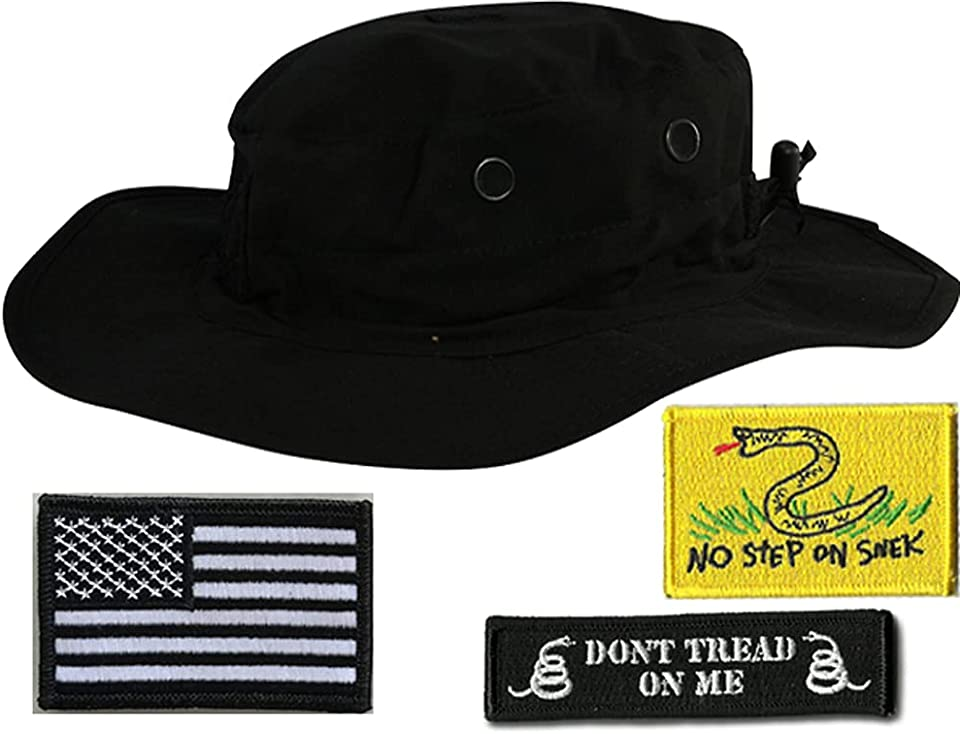 Boonie Bundle with USA, Dont Tread On Me & Snek Interchangeable Patches