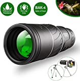 Monocular Telescope,16x52 Monocular Dual Focus Optics Zoom Telescope, Day & Low Night Vision- [Upgrade] Waterproof Monocular with Durable and Clear FMC BAK4 Prism Dual Focus for Bird
