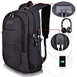 【LOTS OF STORAGE SPACE&POCKETS】 One separate laptop compartment hold 15.6 Inch Laptop as well as 15 Inch,14 Inch and 13 Inch Laptop. One spacious packing compartment roomy for daily necessities,tech electronics accessories. Front compartment with man...