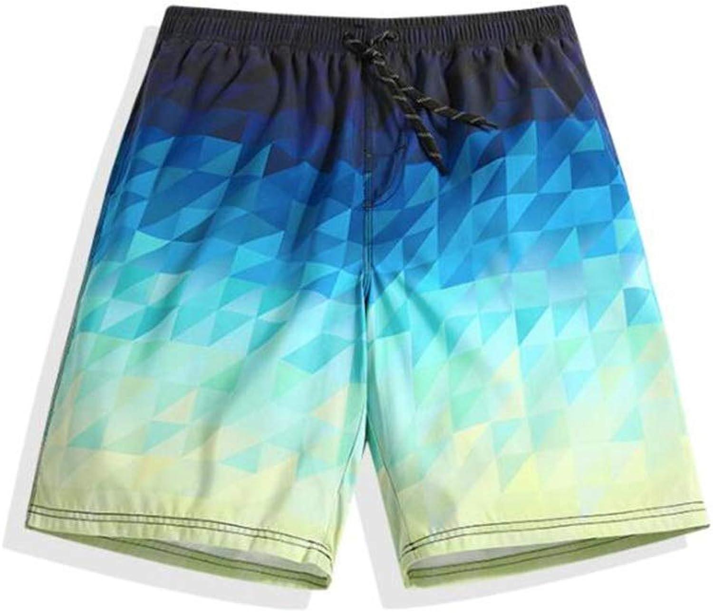 HIAO Sommer Mnner Strand Shorts Polyesterfaser Sport Bequem Freizeit Urlaub Seaside Shorts Bunt Nhen Muster (gre   2XL)