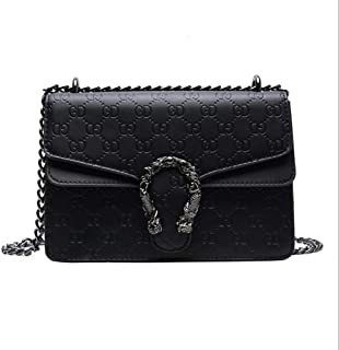 Ladies Square Logo Wallet Chain Bag Messenger Bag Women's Fashion Postman Bag And Handbags
