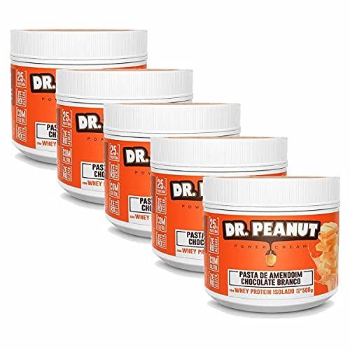 Kit 5X Pasta de Amendoim - 500g Chocolate Branco com Whey Isolado - Dr. Peanut