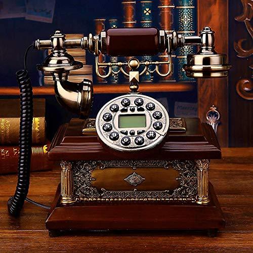 SXRDZ Teléfono casero Retro de Estilo Fijo de Estilo Antiguo con dial auténtico de Tono de Llamada y botón for decoración de Oficina en Sala de Estar