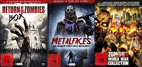 30 Horrorfilme – Halloween Zombie Schlachtfest – Metalfaces Untote & Psychokiller DVD Limited Edition