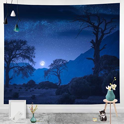 Cielo Estrellado Azul Tapiz De Pared Paño Colgante Decoración De Pared Tapices Dormitorio Sala De Estar Dormitorio Cortina Toalla De Playa Manta 79X59 Pulgadas