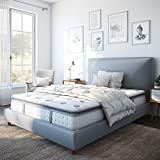 Classic Brands Mercer Pillow Top Cool Gel Memory Foam and Innerspring Hybrid 12-Inch Mattress , King, White