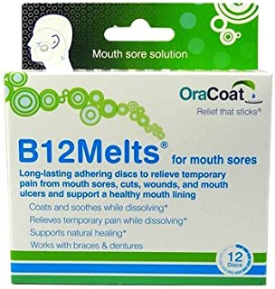 Oracoat H B12 Melts Mouth Sores, 12 Count by Oracoat