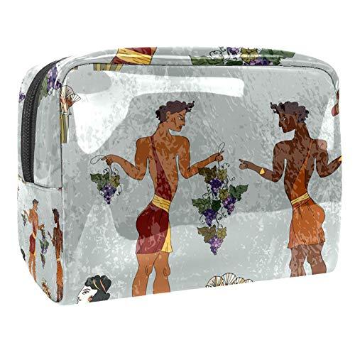 TIZORAX Bolsa de cosméticos para mujer de la cultura de la antigua Grecia Frescos de viaje, bolsas...