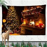 N/A Impresión 3D tapices EE.UU. Chimenea Día De Navidad Paño para Colgar Escena Decoración Paño De Pared De Muñecos De Nieve De Navidad Chinese Style Tapestry Chinese Dragon