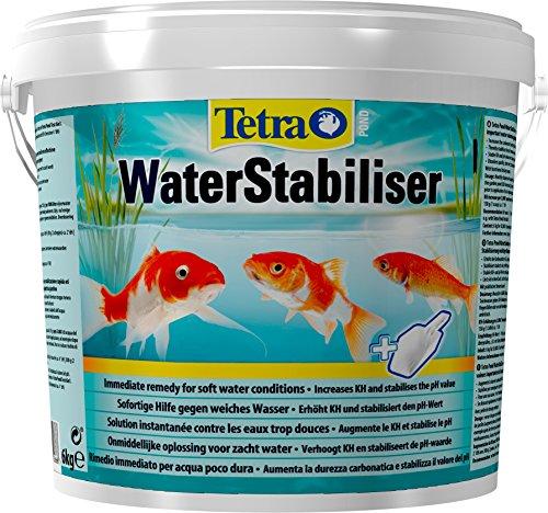 Tetra Pond WaterStabiliser (optimiert den KH- und pH-Wert im Gartenteich, beugt weichem Teichwasser vor, Eimer mit Dosierschaufel) 6 kg