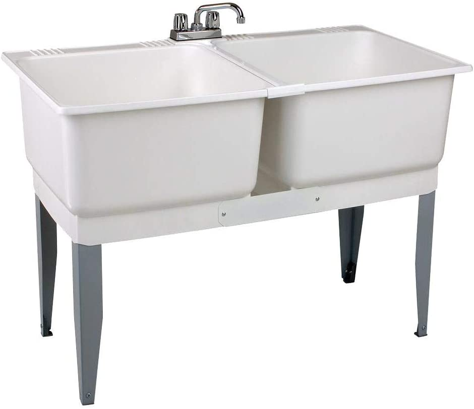 Mustee 24C Denver Mall Utilatwin Combo Some reservation Laundry Kit White Tub Utility