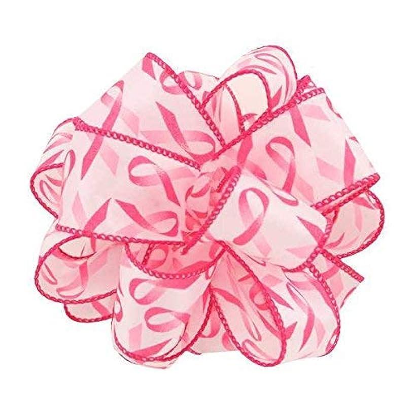 1-1/2 Wired Pink Awareness Ribbon x 25 Yards