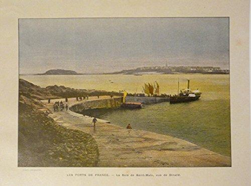 Gravure - Les ports de France : La Baie de Saint-Malo, vue de Dinard