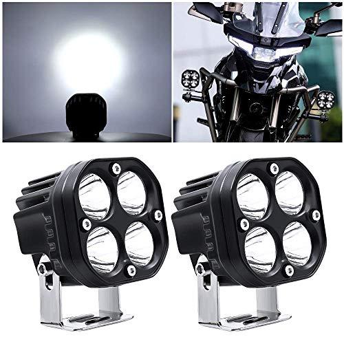 yanzz Barra de Luces LED de Trabajo de 40 W, Luces antiniebla adicionales para conducción de Motocicletas, 12 V, 24 V para camión, Todoterreno, 4x4, ATV, Barco, 2 Piezas, 3 Pulgadas, focos de Moto