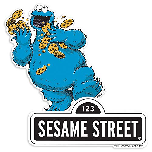 Popfunk Sesame Street Logo and Cookie Monster Collectible Stickers