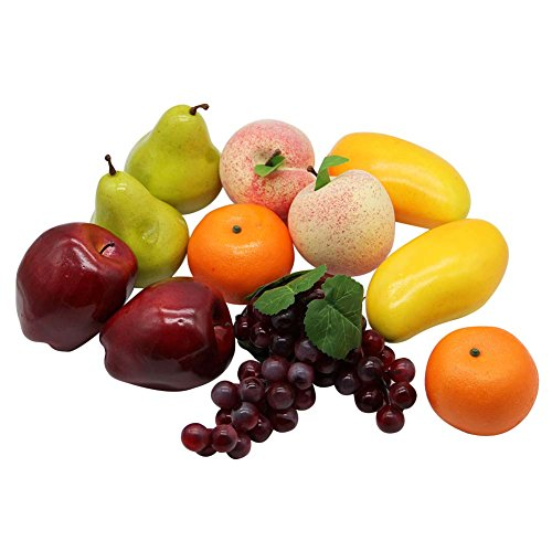 Happy Trees Decorative Lifelike Realistic Artificial Fake Fruit Decor (Set of 12)