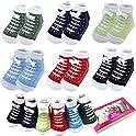6-Pairs 0-6 month Baby Sneaker Newborn Ankle Socks