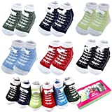 6 Pairs 0-6 month Baby Sneaker Newborn Ankle Sock Toddler Crew Walkers Bootie Infant Slippers Socks
