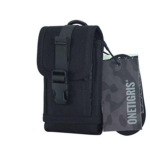 OneTigris Molle mobilväska bältesväska med korthållare för 4,7/5,5 Phone svart 16cm * 9cm