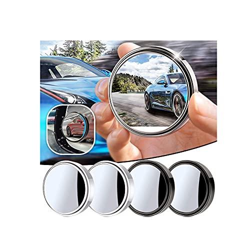 BETUGIFT 2PCS Auto Rückspiegel 360 Grad Rotation Verstellbar Rückspiegel Toter-Winkel-Spiegel Car-SideMirror Totwinkel Rückspiegel Weitwinkel Spiegel Universelle für Alle Autos (Black, 2PC)