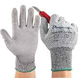 Dowellife Working Gloves for Men and Women, Cut Resistant Work Gloves, Comfortable Gardening Gloves, Durable Mechanics Gloves and Flexible Fishing Gloves (Large, Grey)