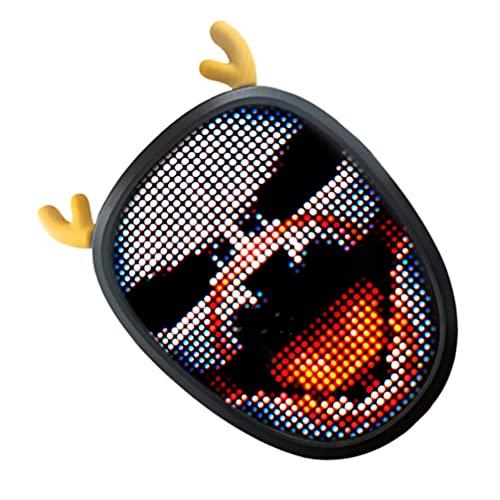 PRETYZOOM Conjunto de Led Halloween Assustador 1 Led Rosto Anônimo Traje Do Pirata Do Dia Das Bruxas Festa Luminosa Criativo DIY Padrão Decorativo Purga Recarregável