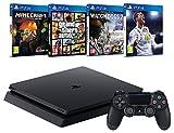 Pack PS4 + FIFA 18 + GTA V + Minecraft  (Digital) + Watch Dogs 2