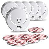 SEBSON 10 Jahres Rauchwarnmelder inkl. Magnethalterung - 6er Set - DIN EN 14604 Zertifiziert,...