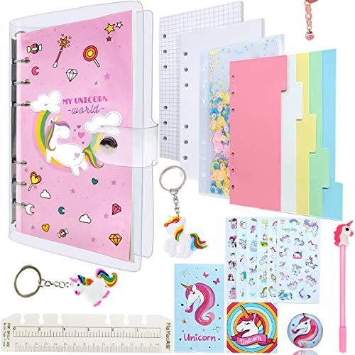 Unicorn Notebook, Estuche Unicornio Set de Papelería Bolígrafos y Cuaderno Libreta de Notas,Conjunto de Bolígrafos de gel de Unicorn Journal,Para Oficina Escuela Regalos.
