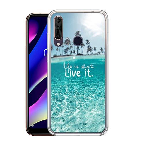 Pnakqil Hülle kompatibel mit Wiko View 3 Phone, Silikon Schutzhülle TPU Clear Transparent Kratzfest Ultra Dünn Stoßfest Motiv Muster Handyhülle Weiche für Wiko View 3,Landschaft