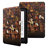 MoKo Funda Compatible con Kindle E-Reader 2019, Ultra Delgada Ligera Smart-Shell Soporte Cover Case Compatible con Kindle 10th Generation 2019 Release - Estanteria de Libros